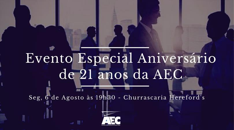 AEC | Evento Aniversário 21 anos - Palestra: Relacionamento como fator de desenvolvimento estratégico dos negócios